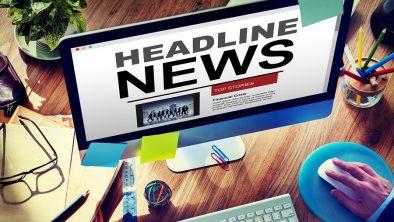Online Headline News Internet Working Office Concept